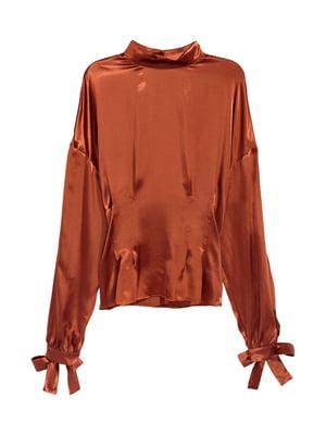 Блуза теракотового кольору | 5667287
