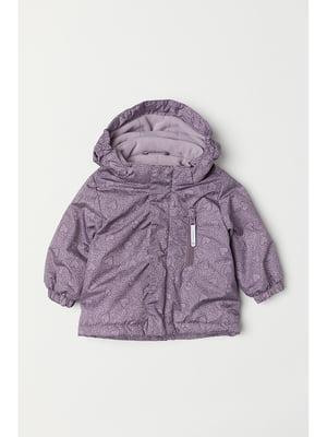 Куртка фиолетовая в принт | 5667349