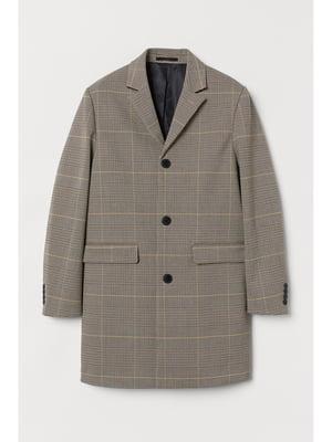 Пальто коричневое в клетку | 5667491