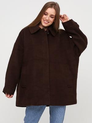 Полупальто коричневое | 5667505