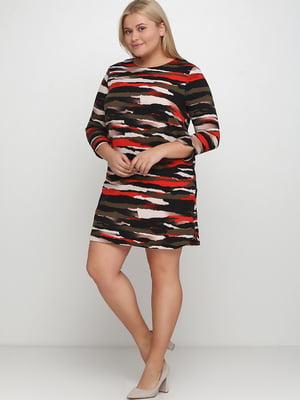 Платье разноцветное в принт | 5667043