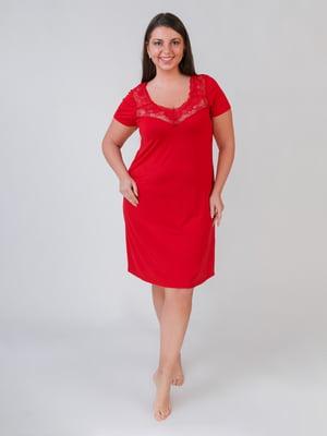 Рубашка ночная красная | 5546482