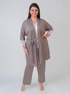 Комплект: халат, футболка и брюки | 5589258