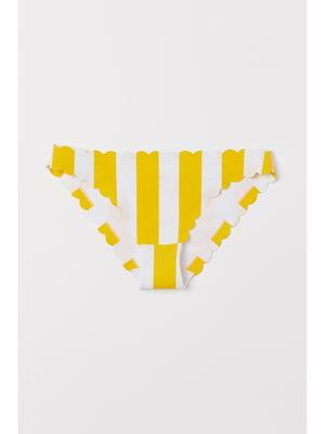 Купальные трусы желто-белые в полоску | 5668069