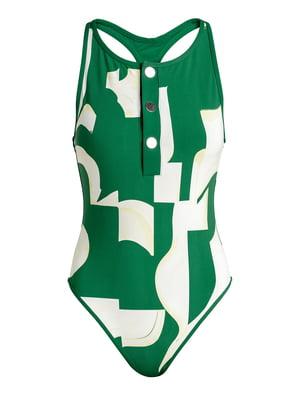 Купальник біло-зелений | 5668363