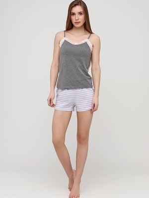 Пижамные шорты белые в полоску | 5668606