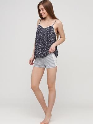 Пижамные шорты белые в полоску | 5668608