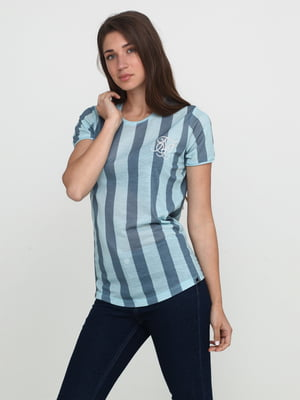Футболка голубая в полоску | 5675715