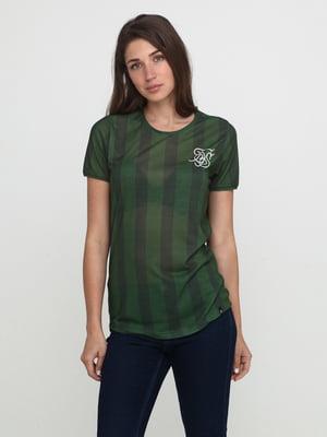 Футболка зеленая в полоску | 5675717