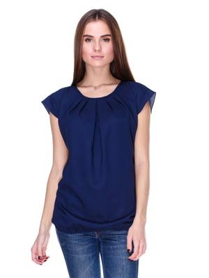 Блуза синяя | 1800597
