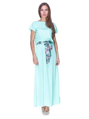 Платье мятного цвета | 1800735