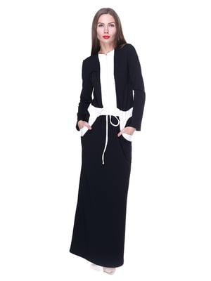 Сукня чорна з оздобленням | 1889179