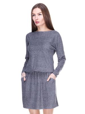 Платье серо-черное | 2006028