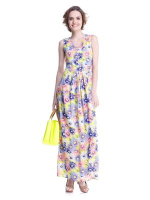 Платье цветочной расцветки   2034804