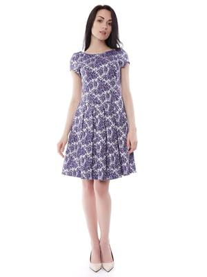 Платье синее в принт | 2844371