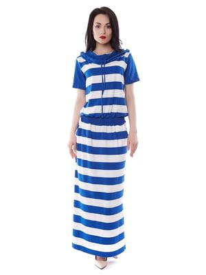 Сукня двокольорова в смужку | 3351327