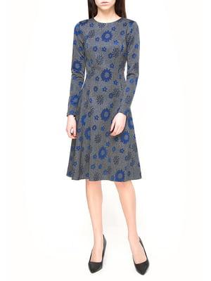 Платье серое в принт | 3351478