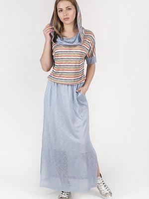 Сукня блакитна в смужку | 4247189