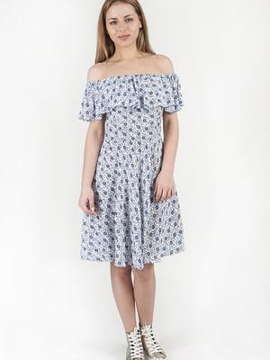 Платье белое в принт | 5676365