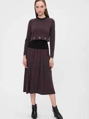 Платье коричневого цвета   5676372