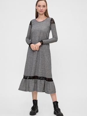 Платье серое   5676383