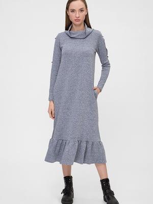 Платье серое в крапинку   5676377