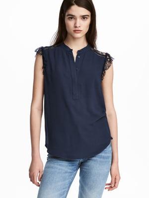 Блуза темно-синя | 5632735