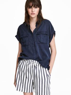 Рубашка темно-синяя | 5632742