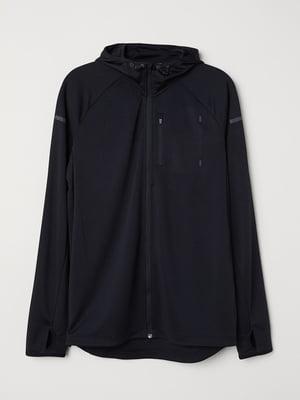 Куртка для бега черная | 5676818
