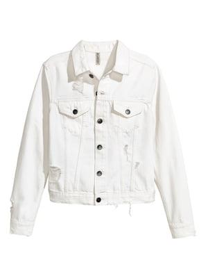 Куртка джинсова біла | 5676890