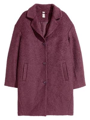 Пальто темно-бордове | 5676902