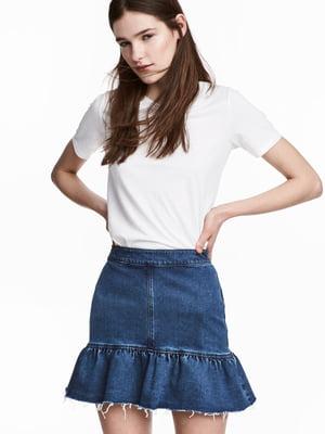 Юбка синяя джинсовая | 5677007