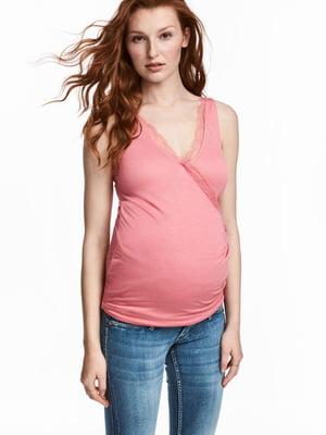 Майка для вагітних рожева | 5677235