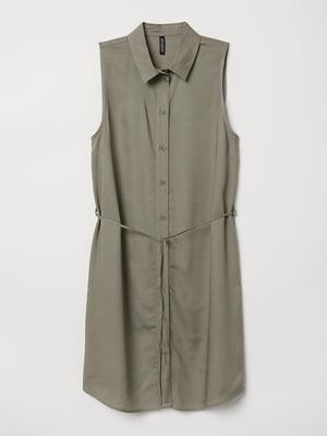 Сукня-сорочка кольору хакі | 5677435