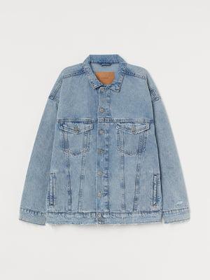 Куртка джинсова блакитна | 5677572