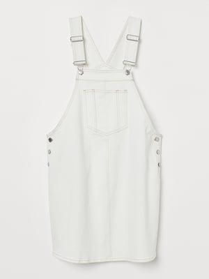 Сарафан молочного цвета джинсовый для беременных | 5677826