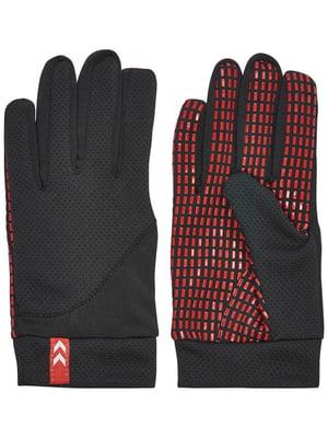 Перчатки черные с логотипом | 5677971