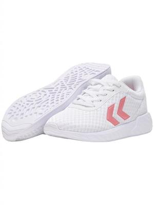 Кроссовки белые с логотипом | 5677982