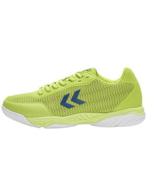 Кросівки ігрові салатового кольору з логотипом | 5677985