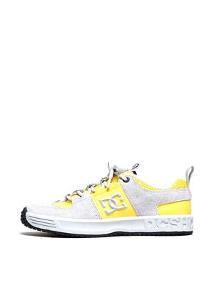 Кроссовки серо-желтого цвета | 5678217