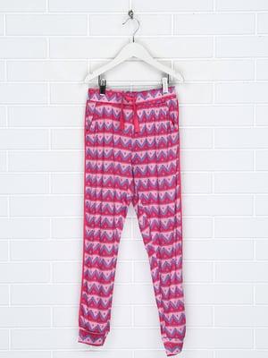 Штани рожеві в принт | 5671639