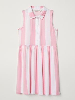 Платье розовое в полоску | 5672026