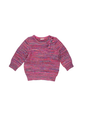 Джемпер рожевий в смужку | 5672391