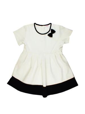 Платье белое с декором | 5672473