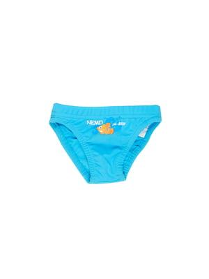 Труси купальні блакитні з малюнком | 5672479