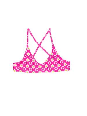 Топ купальний рожевий в принт | 5672492