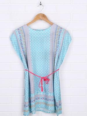 Платье голубое в полоску   5671980