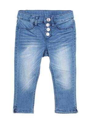 Бриджи джинсовые голубые | 5672494