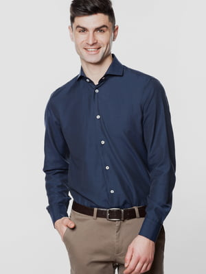 Рубашка темно-синяя | 5678902