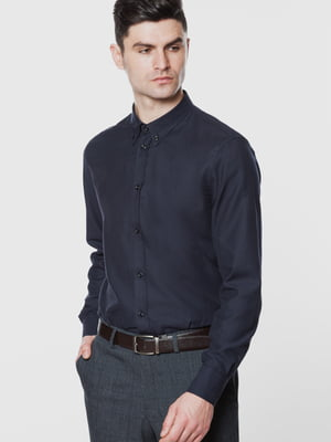 Рубашка темно-синяя | 5678905